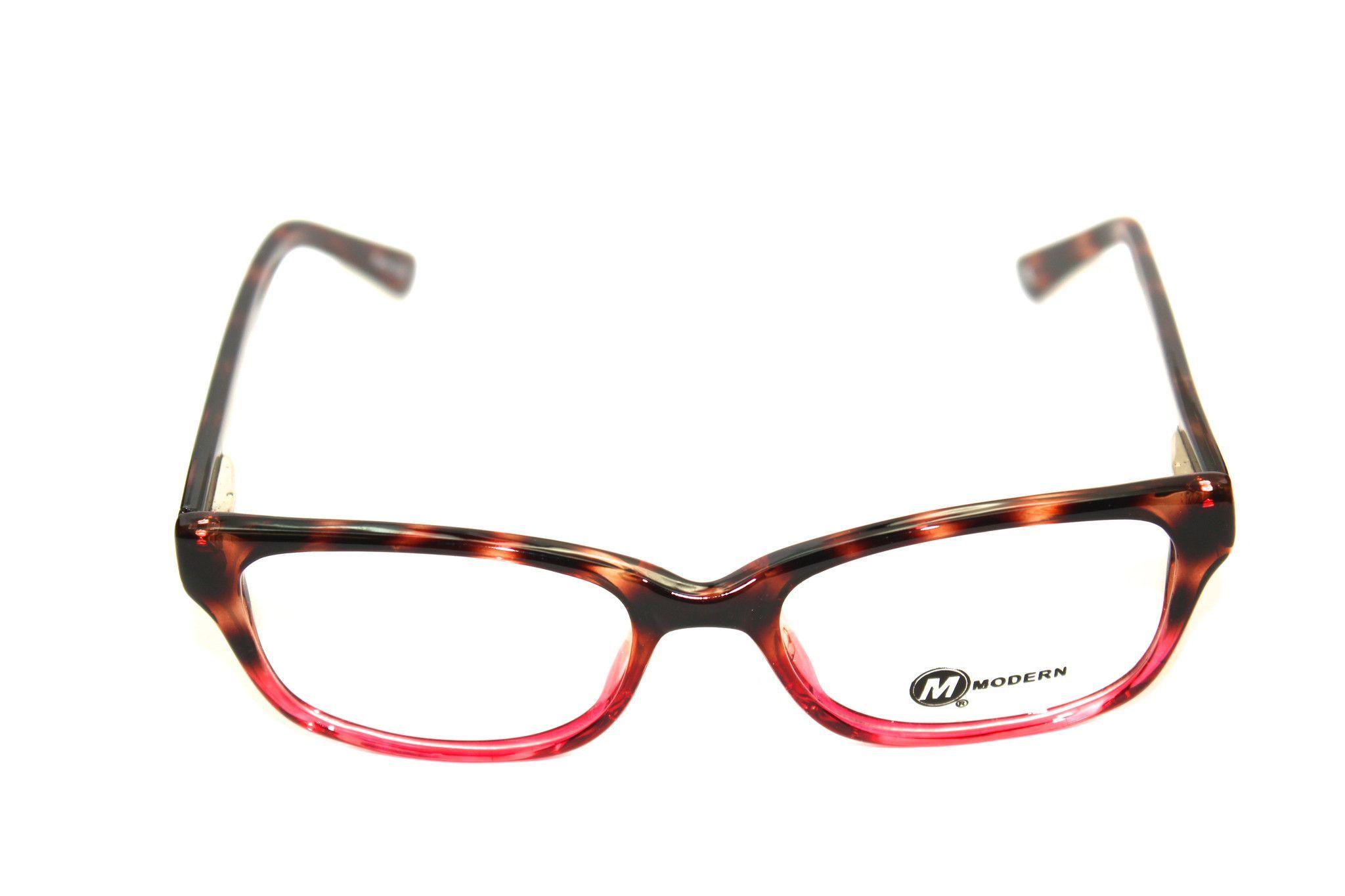 Modern Optical Harper Tortoise/Burgundy (50mm) Eyeglasses
