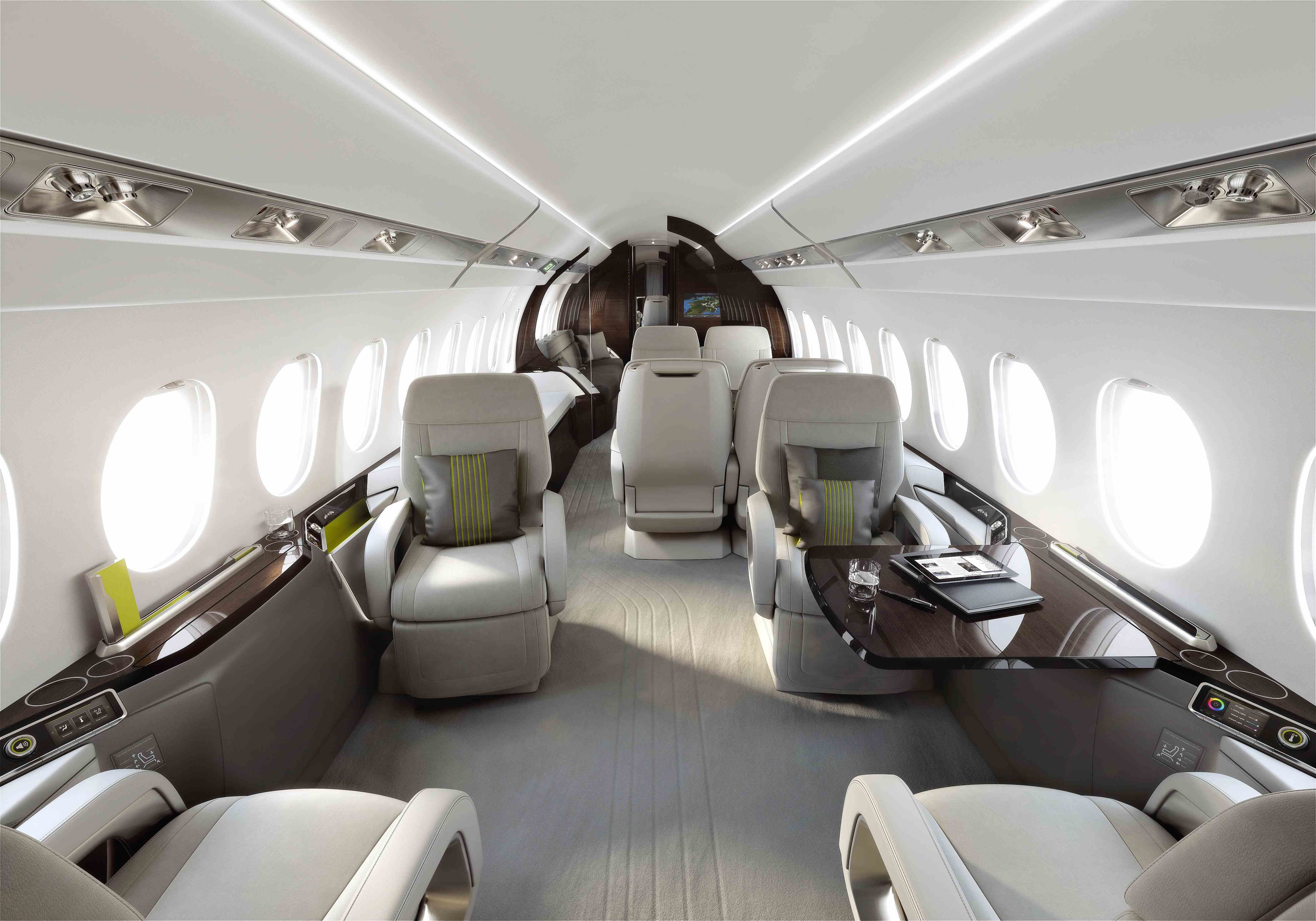 Private jet interior furnished like a vintage train aviation - Find This Pin And More On Private Jet Interior