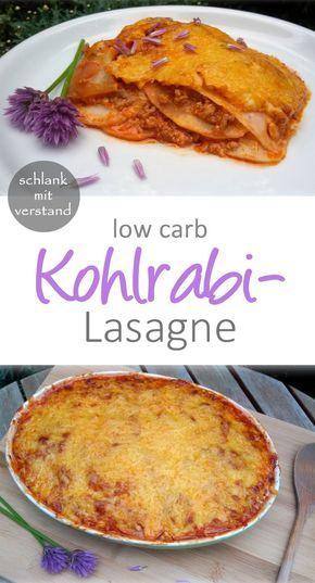 Kohlrabilasagne –  die beste low carb Lasagne
