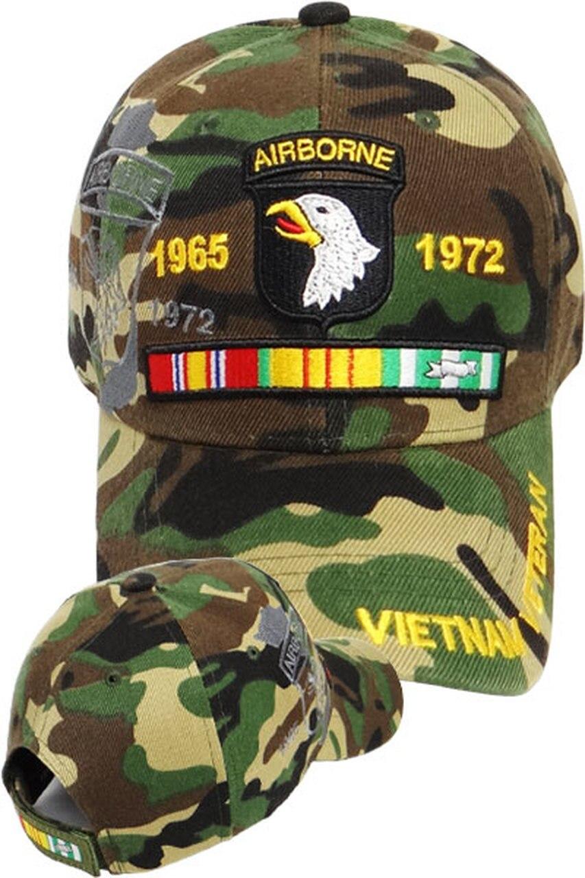 101st Airborne Vietnam Veteran Shadow Cap Woodland Camo Usmilitaryhats Com Vietnam Veterans Vietnam War Vietnam War Veterans