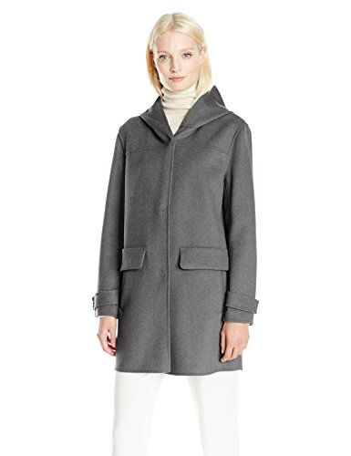 f29dc491e69 The perfect Jones New York Women's Double Face Hooded Coat w/Snap Front  Closure and Pockets. [$78.98 - 139.99] topbrandsclothing from top store