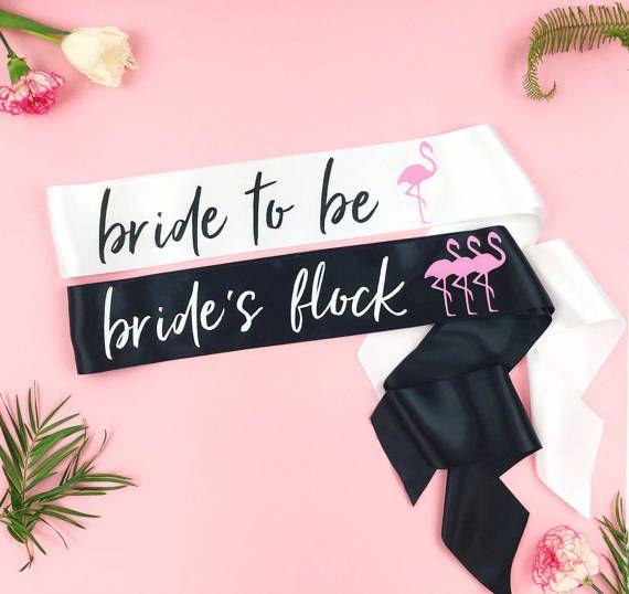 Flamingo banner bridal shower bachelorette party last flocked