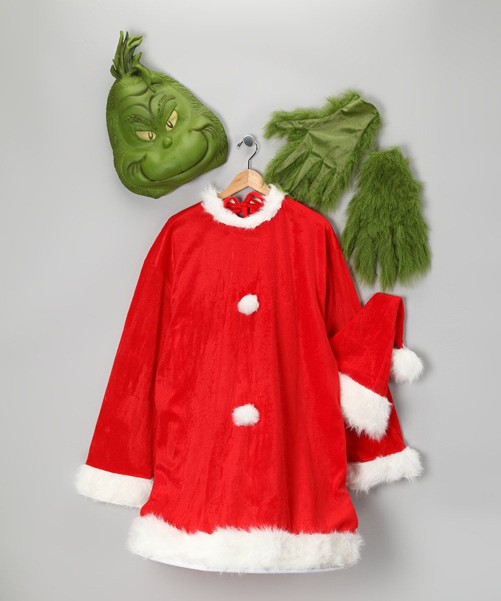 elope Santa Grinch Mask Set Adult Grinch mask, Grinch