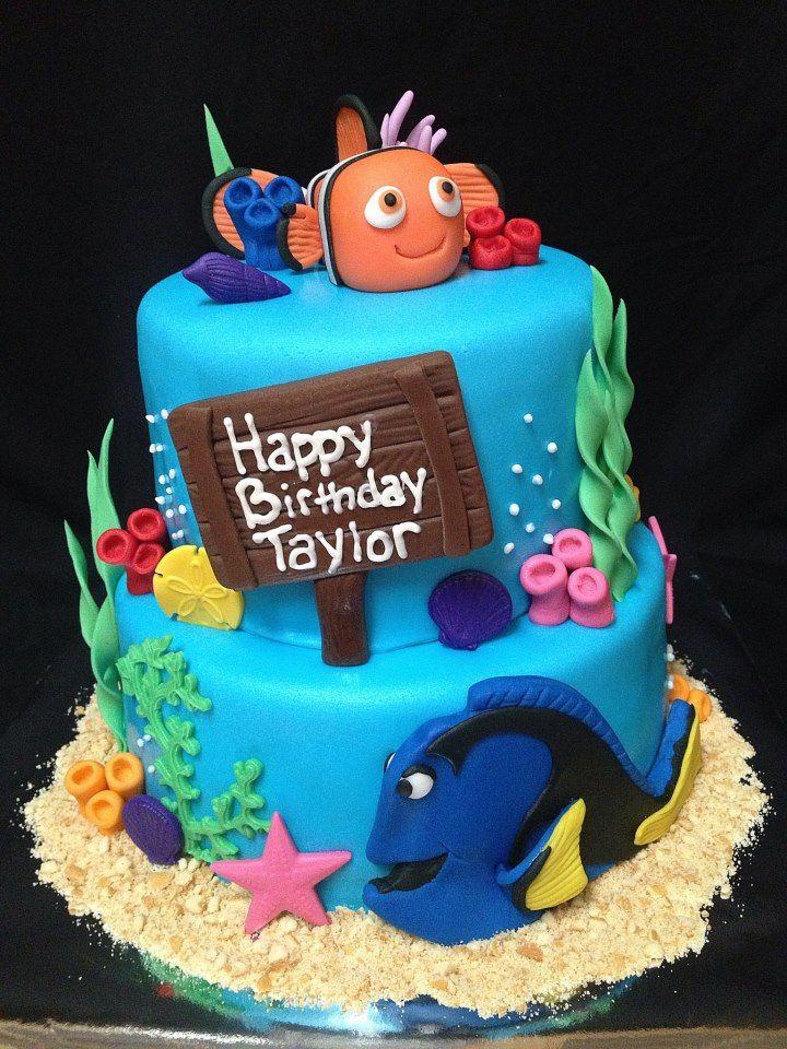 finding nemo birthday cake cakes pinterest conseil deco gateau enfant et p t s. Black Bedroom Furniture Sets. Home Design Ideas