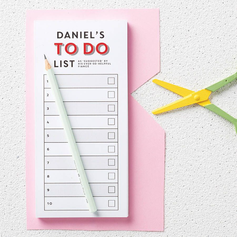 personalised to do list notepad present ideas pinterest