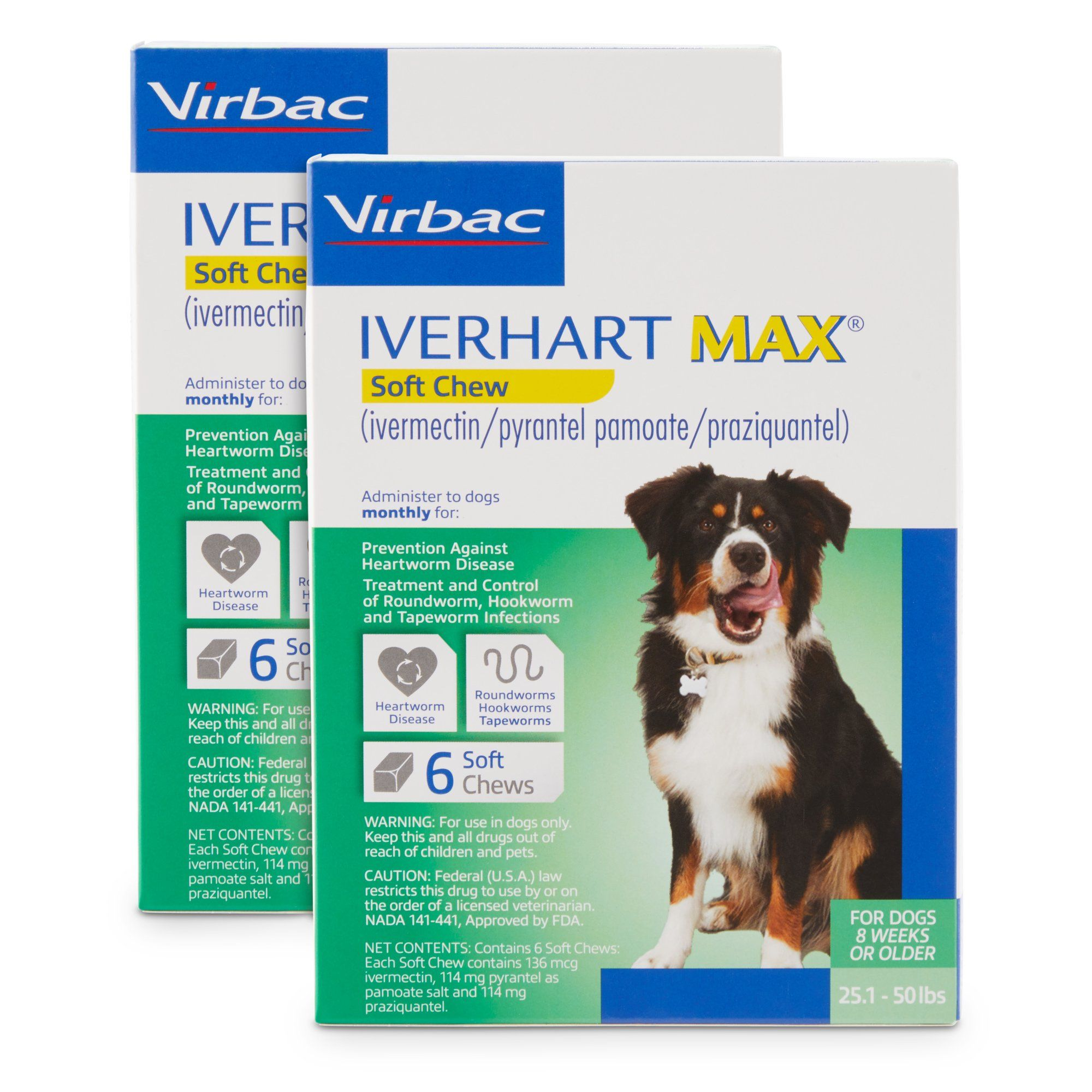 Iverhart Max Soft Chews For Dogs 25 To 50 Lbs 12 Pack Medication For Dogs Dogs Wild Bird Food