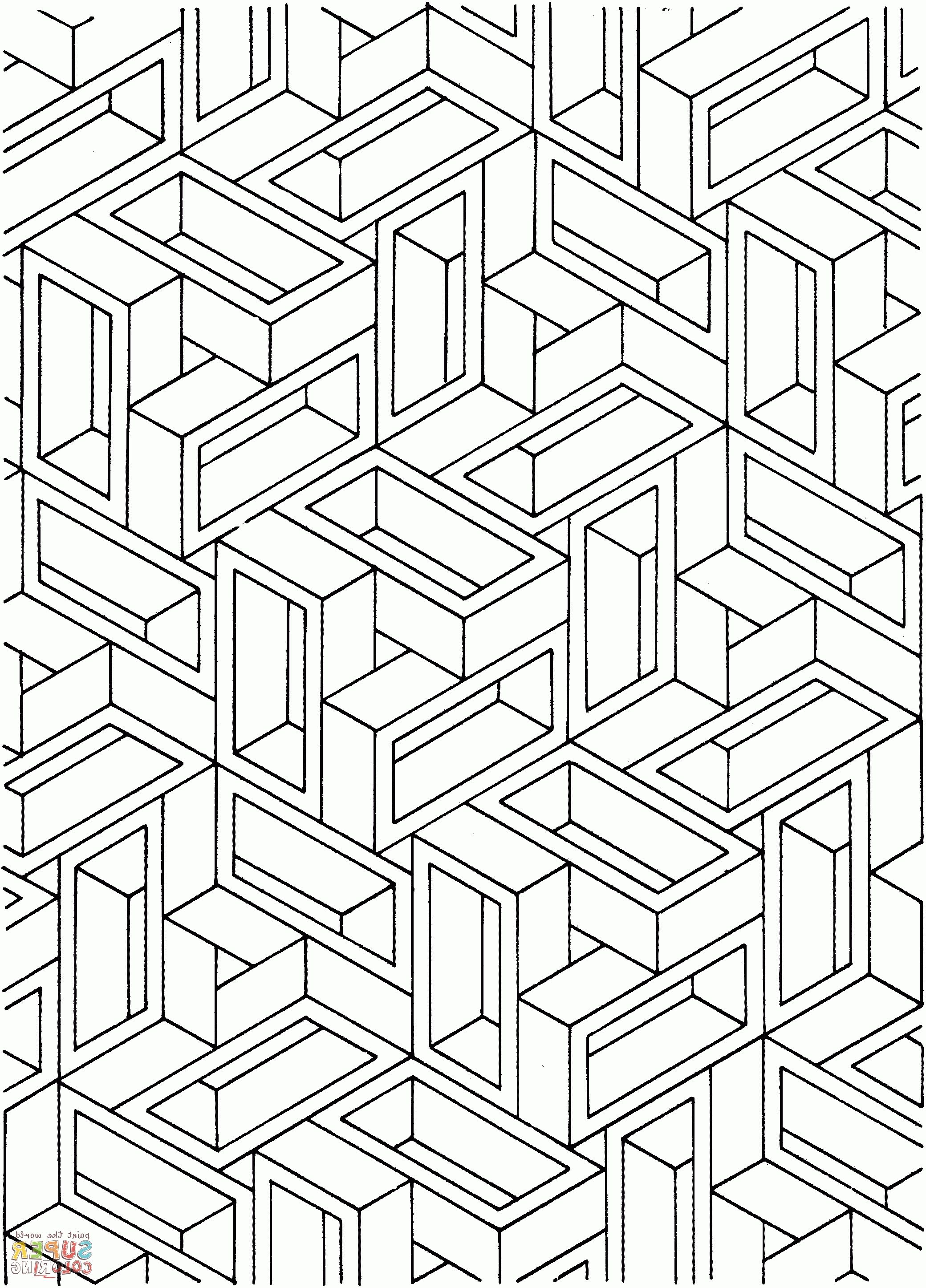 Optical Illusion Coloring Pages | Geometric coloring pages ...