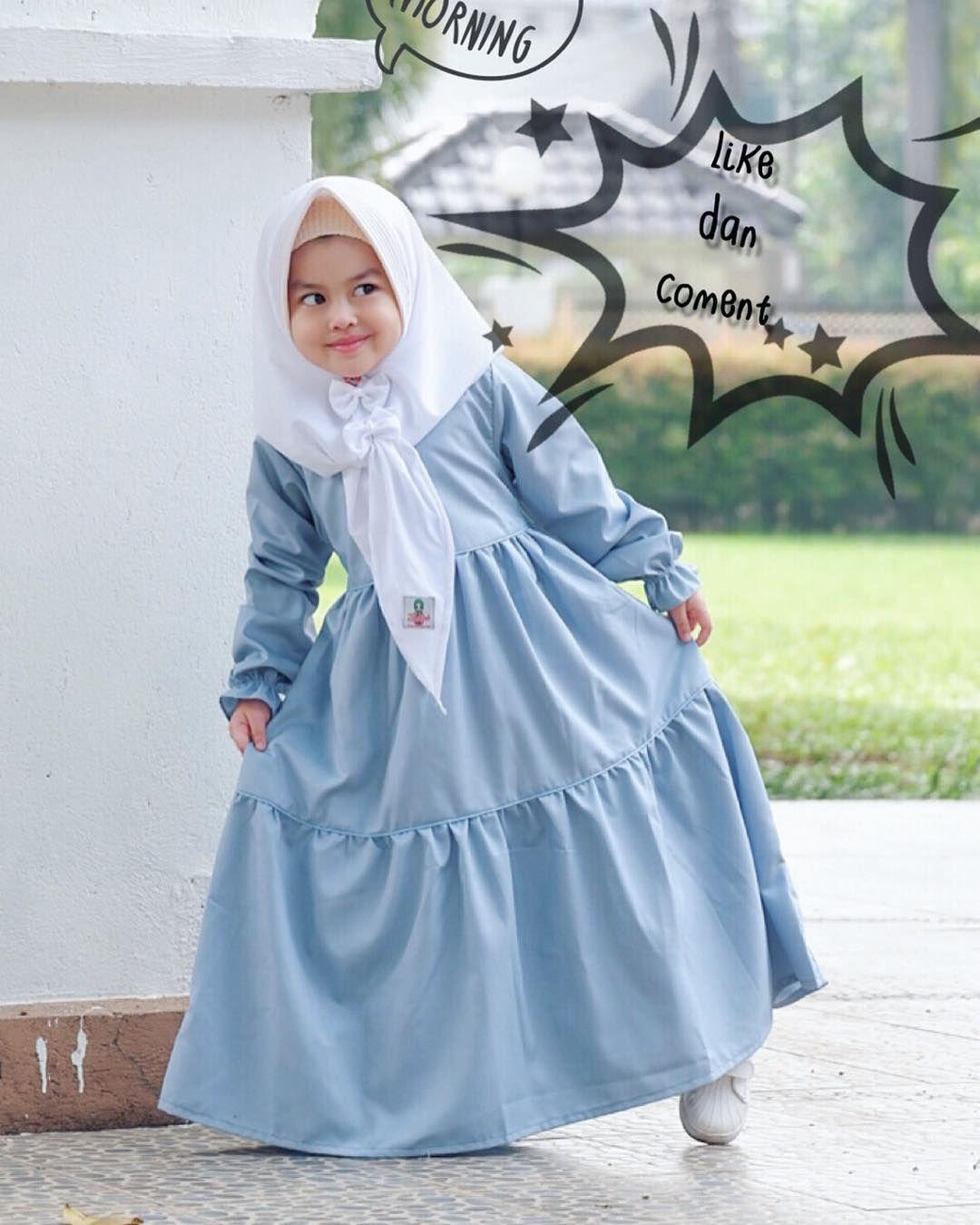 Model Gamis Syari Anak Perempuan  Pakaian bayi perempuan, Model