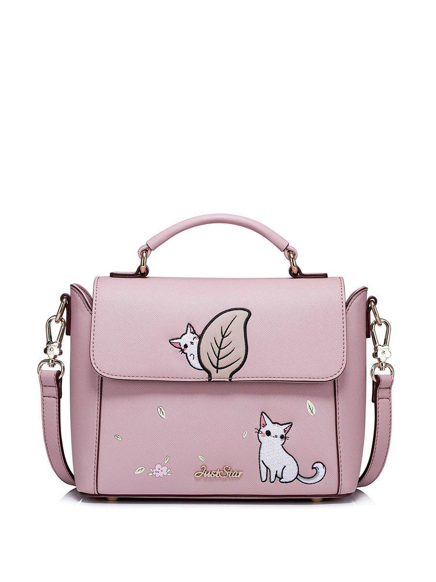 Adorewe Stylewe Crossbody Bags Designer Just Star Pink Sweet Nucelle Women Leather Purse Satchel Shoulder Bag Handbag Lock Gorgeous Glitter Elegant Blue Magnetic Embroidered Pu