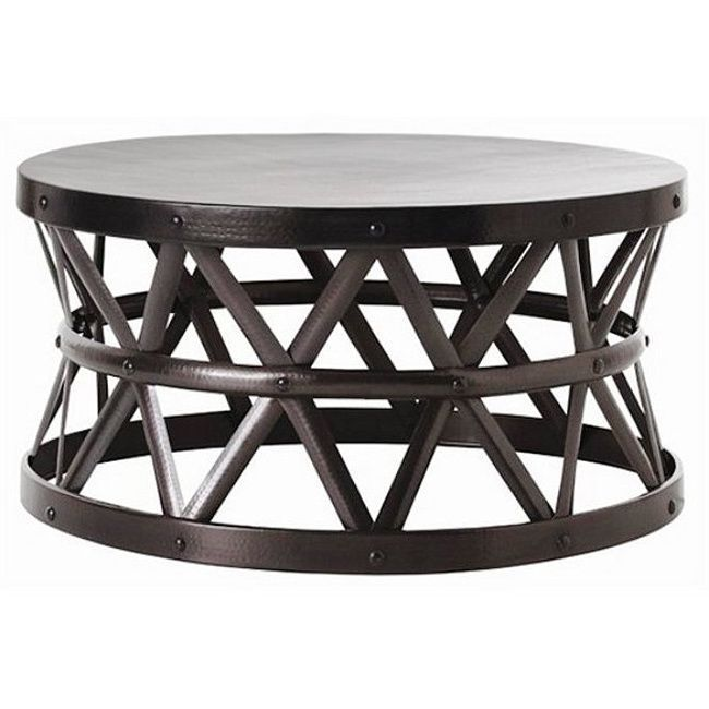 This Drum Cross Coffee Table Combines Modern Eal With A Touch Of The Exotic