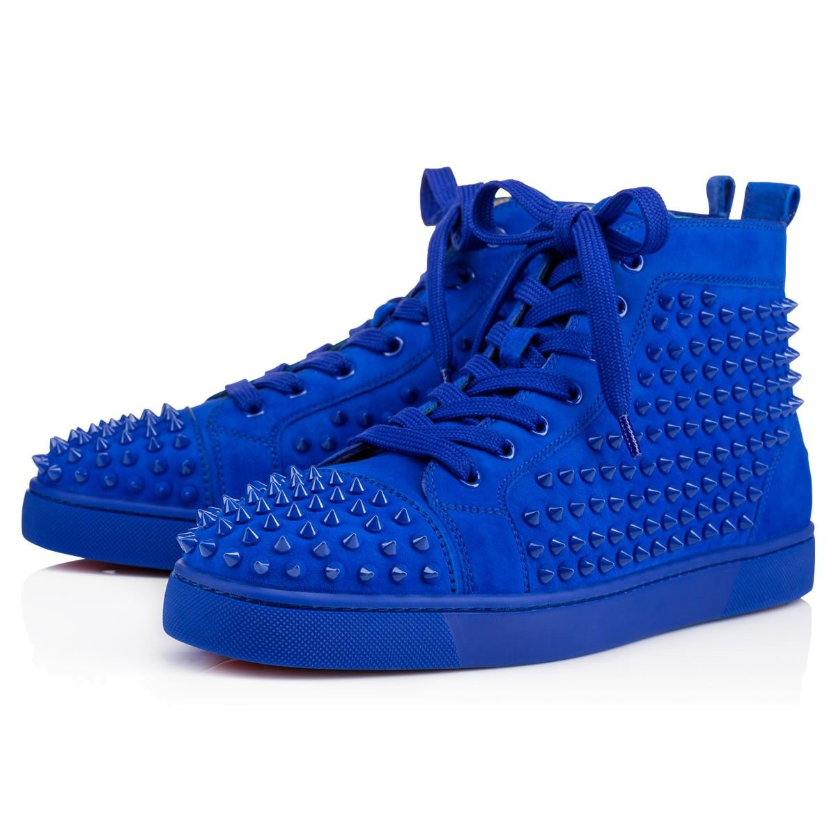 d0f2e713cca4 CHRISTIAN LOUBOUTIN Louis Suede Spikes