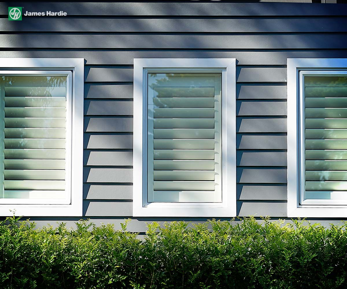 Exterior House Trim: Scyon Linea Fc Board With Axent Window Trim Burraneer Bay