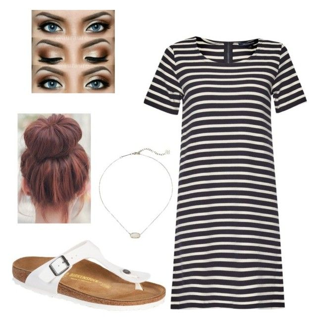 """""""HS Outfits"""" by riniu on Polyvore featuring beauty, French Connection, Birkenstock and Kendra Scott"""