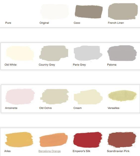 Colores de las pinturas a la tiza de annie sloan 1 chalk - Pintura ala tiza colores ...