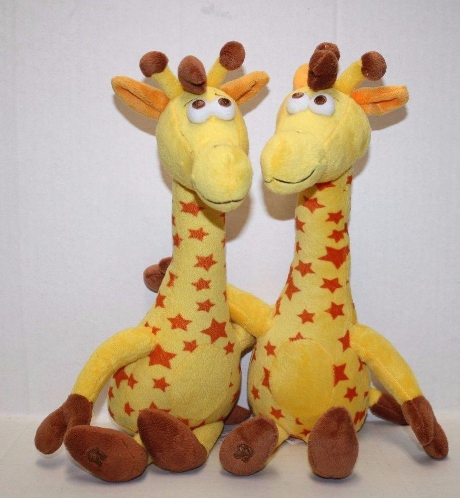 Toys R Us Geoffrey Giraffe Twins Stars Soft Toy Plush Stuffed Animal