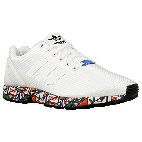 882645fa52a63 get super oferta en adidas zx flux zapatillas para hombre color blanco  negro rojo amarillo talla