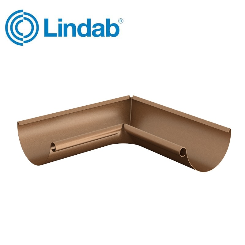 Lindab Half Round 90dg Inner Gutter Angle 125mm Painted Copper Roofing Superstore Copper Roof Tutorial Installation