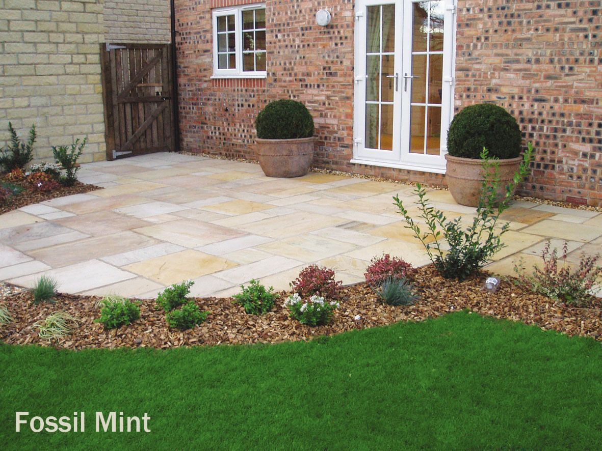 fossil mint sandstone premium paving natural indian patio slabs 600 x 900  u2022  u00a32 49