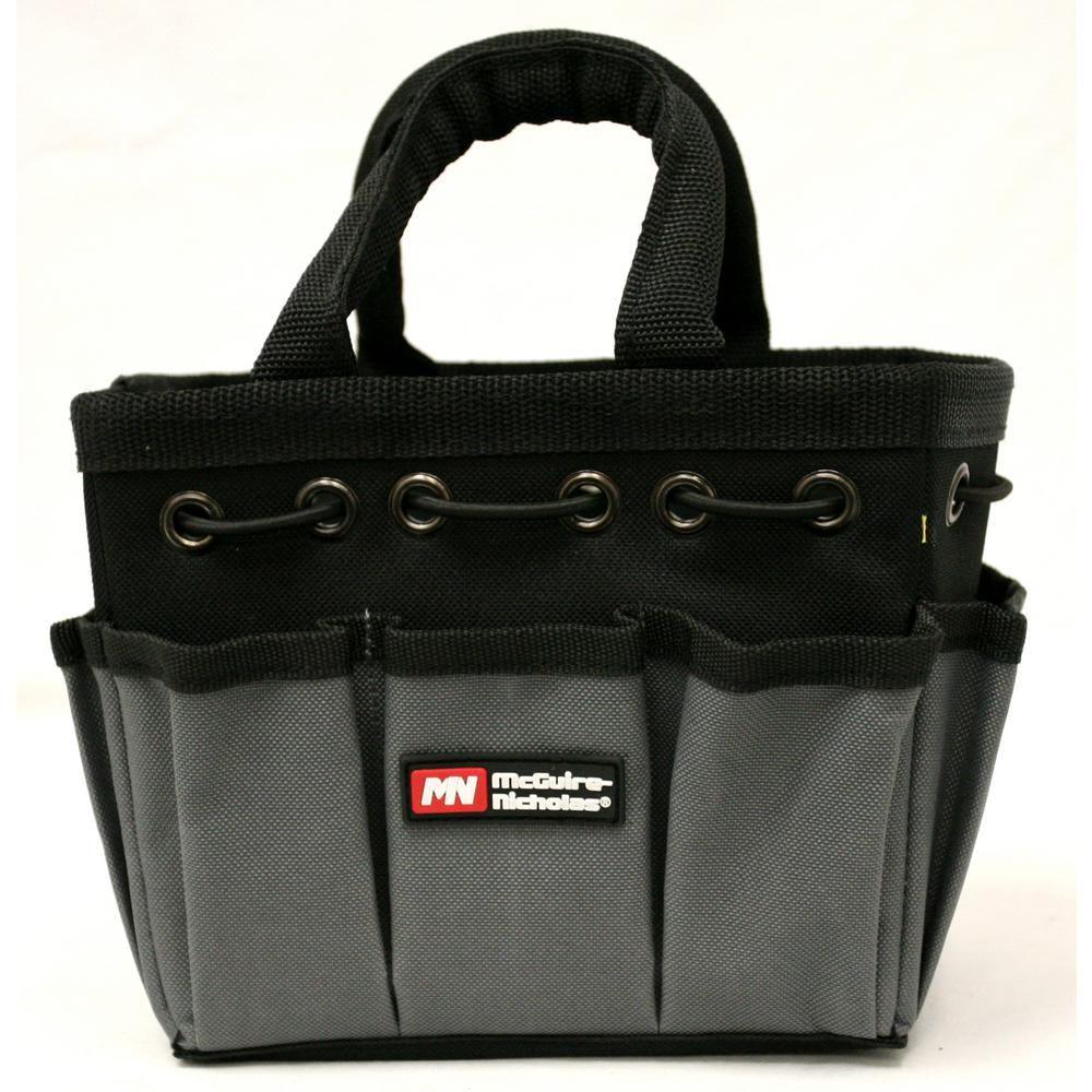 Mcguire Nicholas 8 In Tool Bag In Black And Grey 22565 1 Tote Storage Bags Reusable Shopping Bags