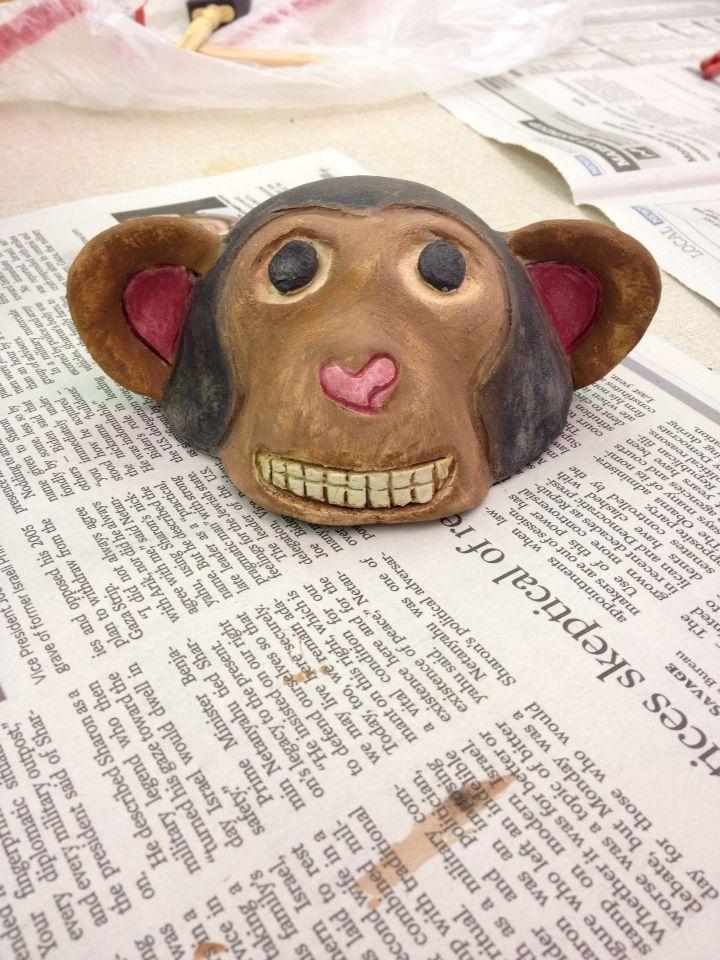 Painted animal head