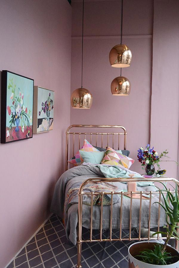 Photo of White-Gray-and-Copper-Master-Bedroom-Get-inspired-1 White-Gray-and-Copper-Master …