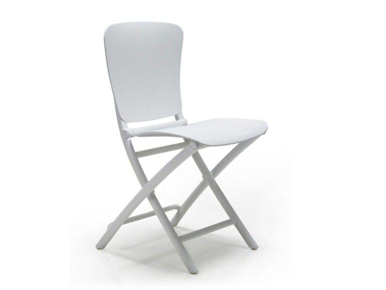 Cadeira de jardim dobrável de resina ZAC Coleção Zic Zac by Nardi | design Raffaello Galiotto