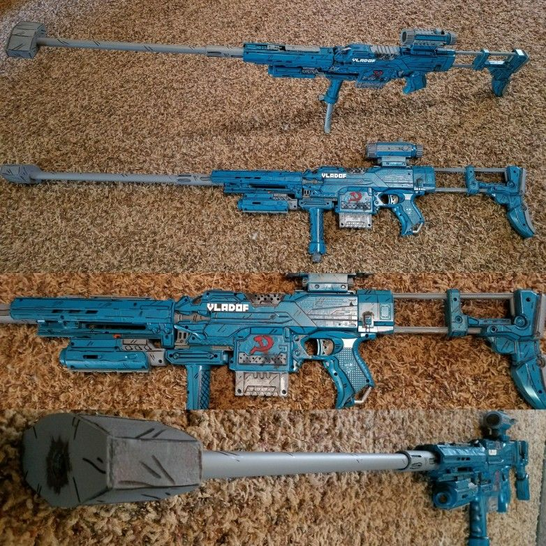 Nerf, #nerf mod, #custom build, #hand painted, #cosplay