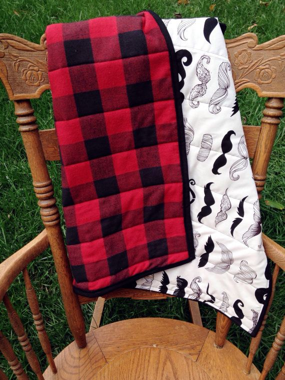 Plaid Baby Quilt: The Lumberjack Quilt. Buffalo Plaid With By LoveGrettaShop