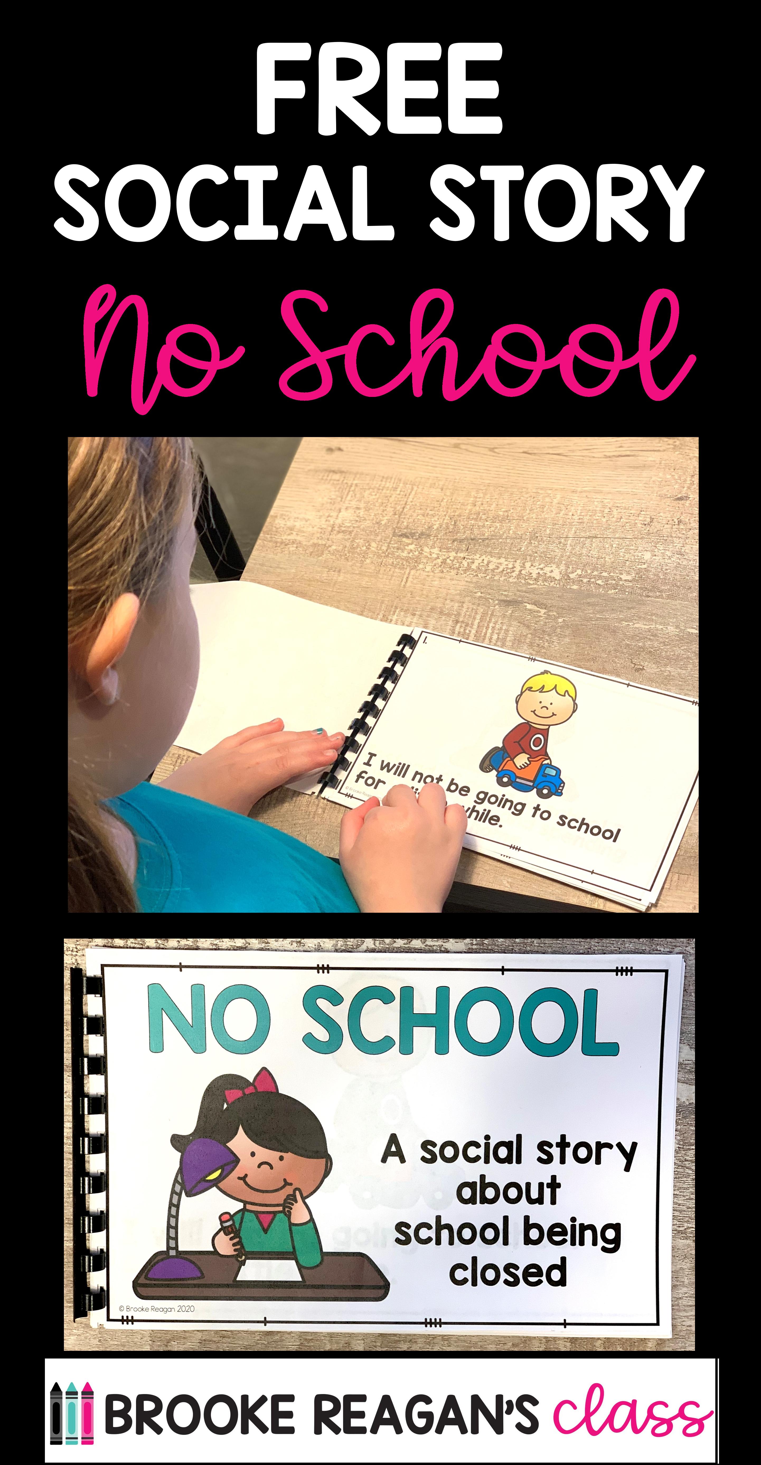 FREE Social Story: No School