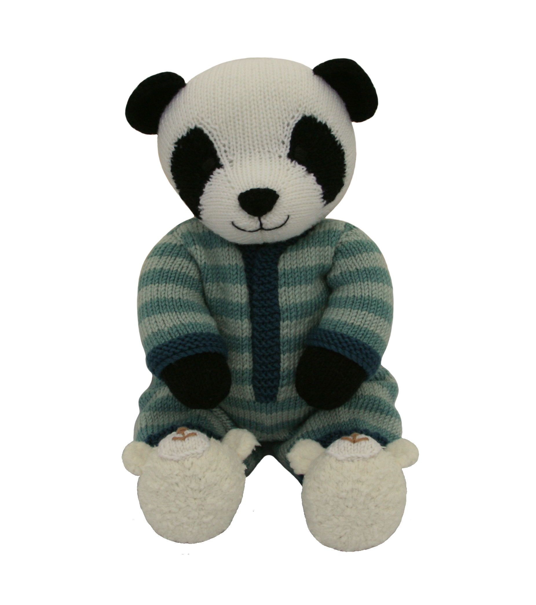 My latest pattern is a Panda in a onesie with cute teddy bear ...