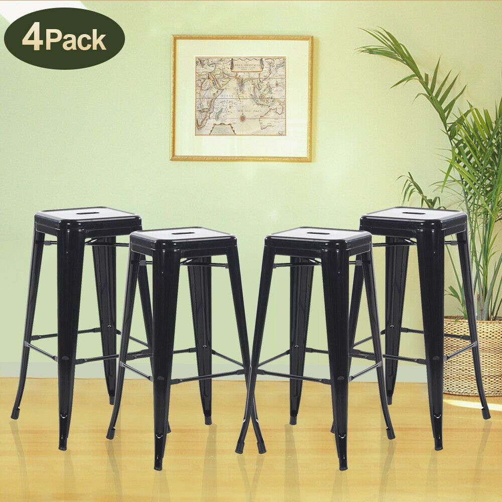 30 Inches Counter Bar Stools Industrial Set Of 4 Farmhouse Metal