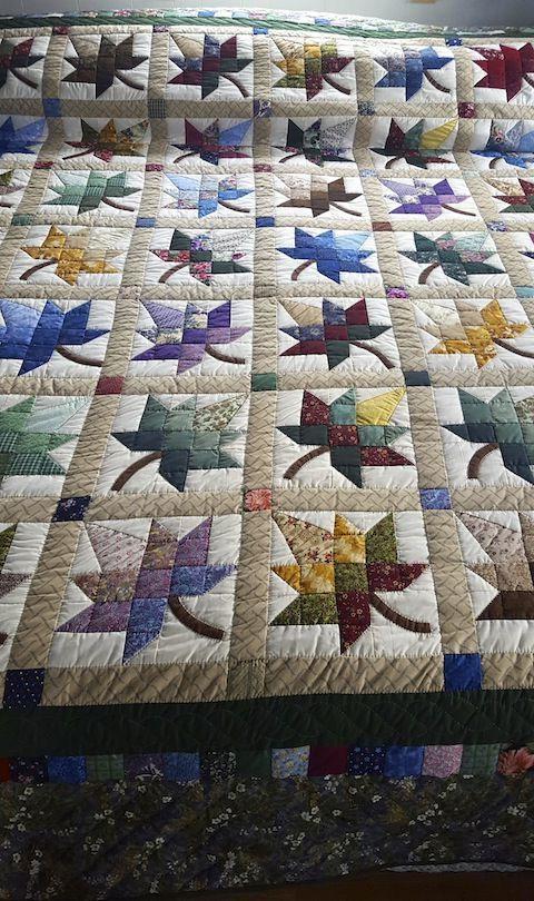 Photo of Tolle Patschwork-Decke mit Blätter