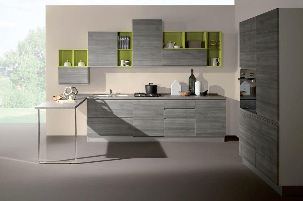 Kelly Con Penisola Cucine Moderne Mobili Sparaco, Disegni Interni