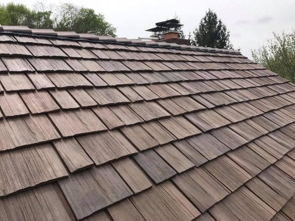 Brava Cedar Shake Roof Siding Tiles Eco Friendly Durable Composite Roofing Tiles In 2020 Cedar Shake Roof Wood Shake Roof Cedar Shake Shingles