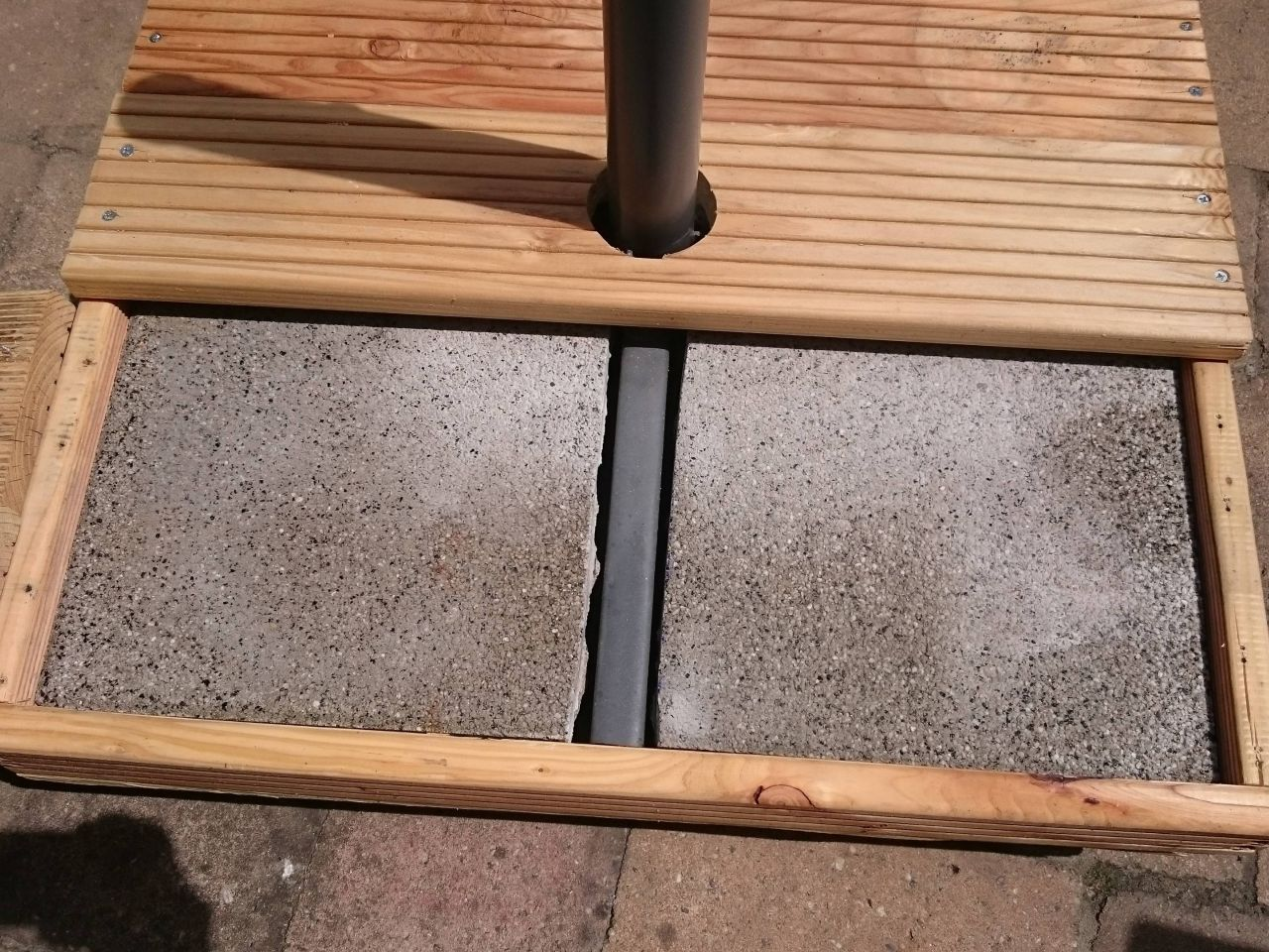 Fahrbarer Ständer für den Ampelschirm - Bauanleitung zum ...