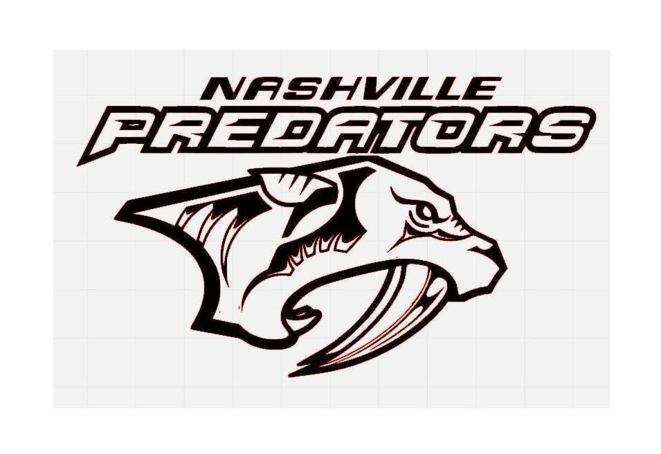 Nashville Predators NHL Hockey Team Logo Decal Sticker