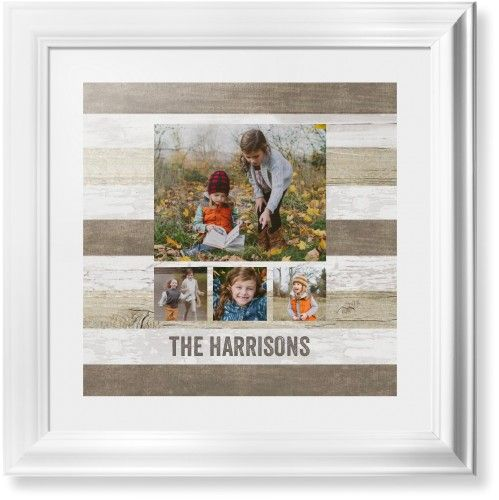 Collage of Four Framed Print, White, Classic, None, White, Single piece, 16 x 16 inches