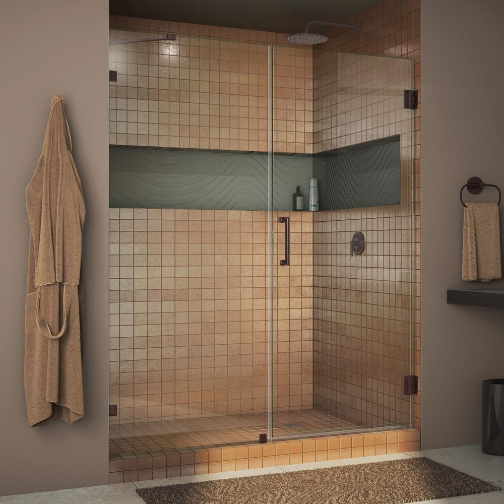Dreamline Unidoor Lux 49 In X 72 In Frameless Pivot Shower Door