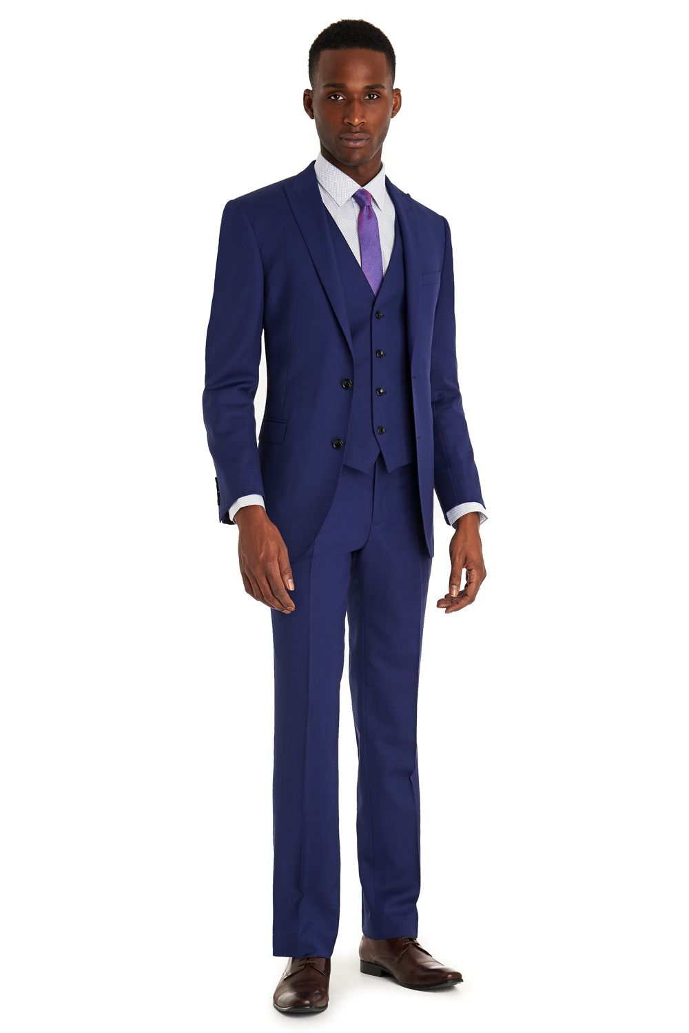 French Connection Slim Fit Bright Blue 3 Piece Suit | grooms page ...