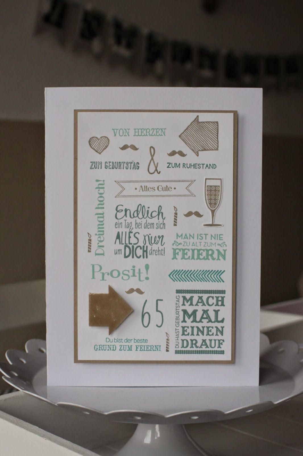 Kreativ mit stempel und papier geburtstagskarte stampin for Selbstgemachte geburtstagskarten