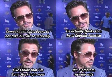 Robert Downey Jr <3 :)