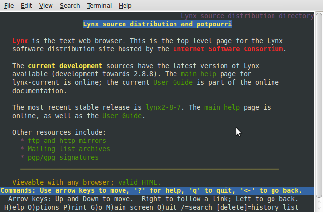Lynx, an early text-based Web browser  | Tech Shit | Web browser