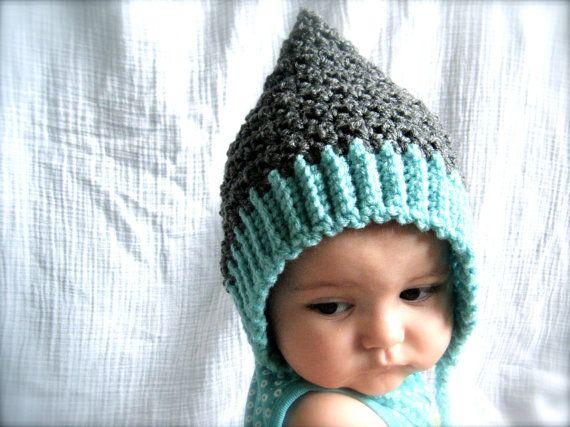 Easy Pixie Hat Knitting Pattern : PATTERN: Seedling Pixie Bonnet, baby hat, 3 Sizes, easy ...