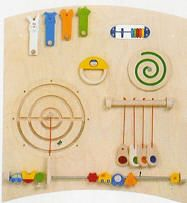 Wall Panels and Wall Activities - Small Motor Skill Wall Panels and Colorful Decorative Components That Can Turn Any Wall into an Instant Play Area - Great for Lobby, Waiting Rooms or Arcade Area