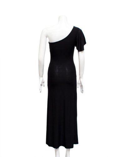 $18 Black One Bell Shoulder Long Maxi DressFrom FineBrandShop $18
