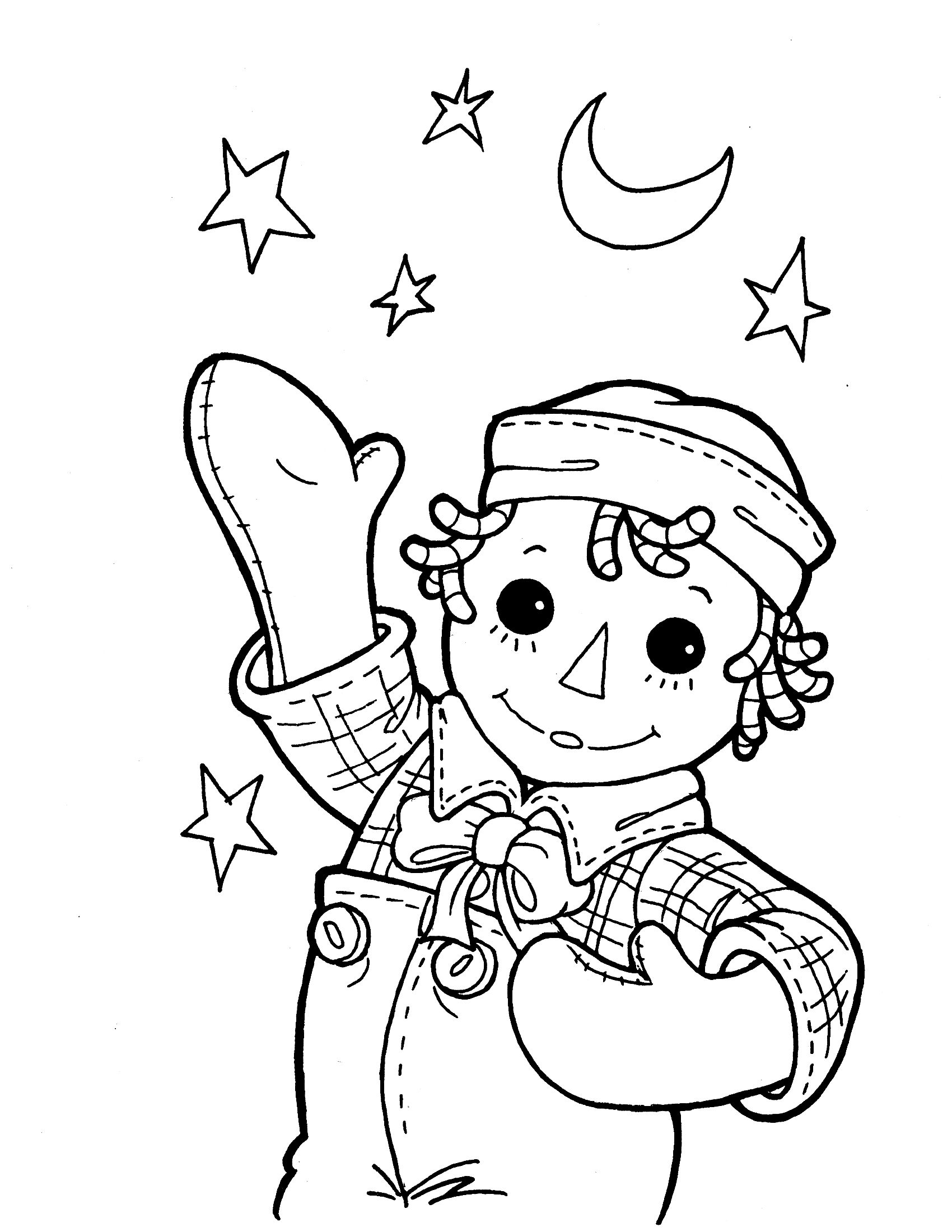 Raggedy ann coloring pages raggedy andy colouring pages for Raggedy ann and andy coloring pages