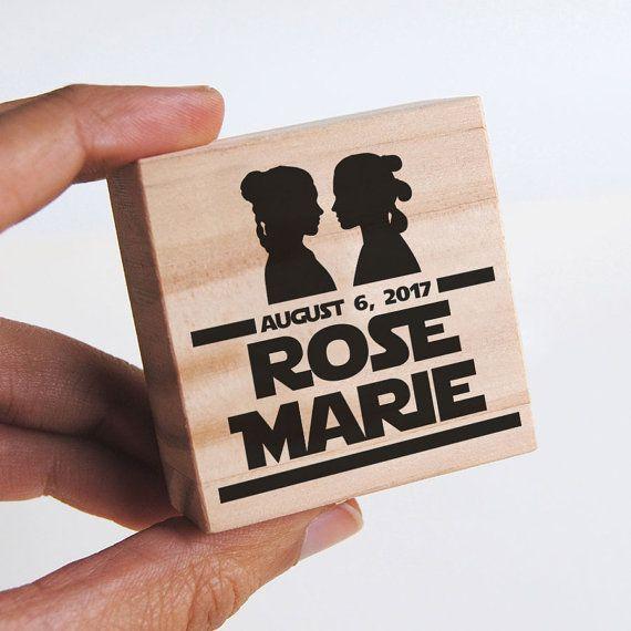 Custom Stamp Gay Wedding Star Wars Favors Lesbian Gift