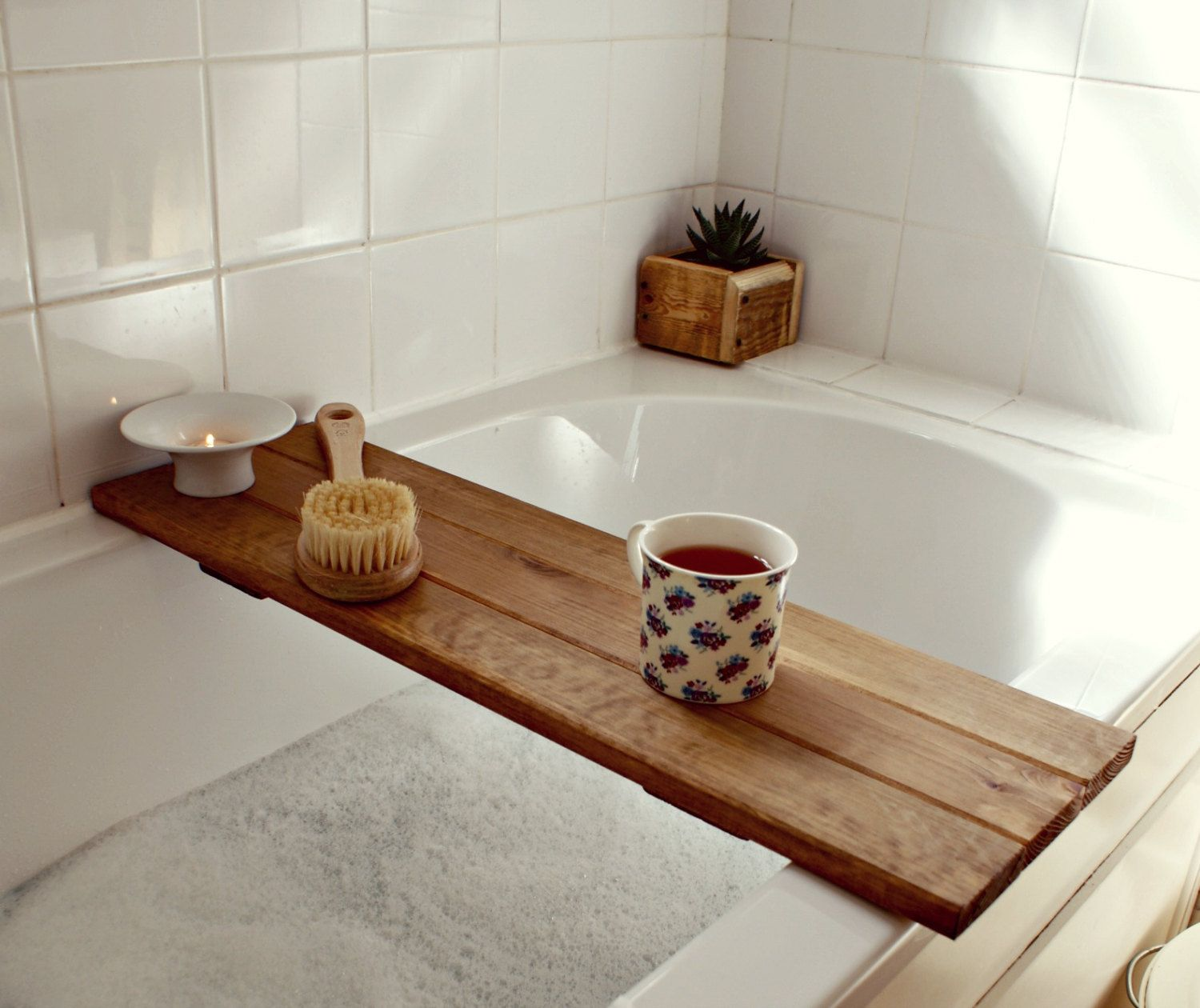 bath tray reclaimed wood tray. bathroom decor. bath caddy. wooden