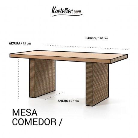Mesa comedor 55a pinterest cardboard art for Medidas mesa comedor 12 personas