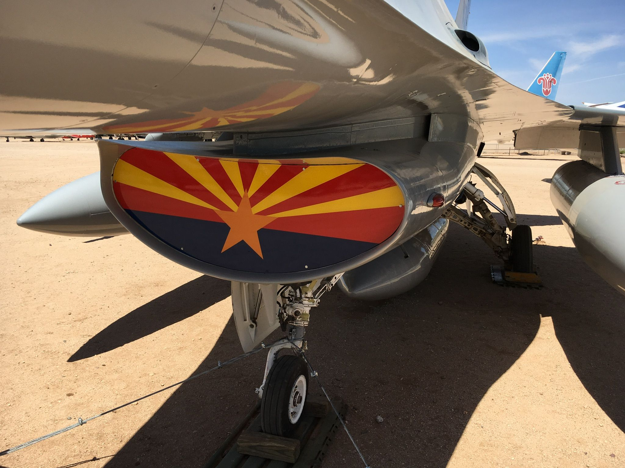 Arizona ANG F16A. Photo Paul Woodford Space museum